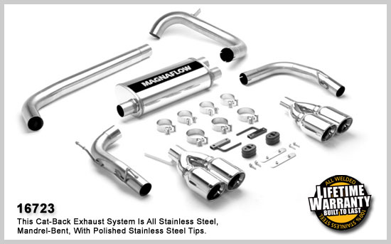 Magnaflow Catback Exhaust with Quad Tips, 1998-2002 LS1 F-body