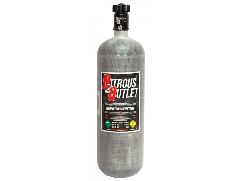 Nitrous Outlet 12lb Carbon Fiber Nitrous Bottle & High Flow Valve