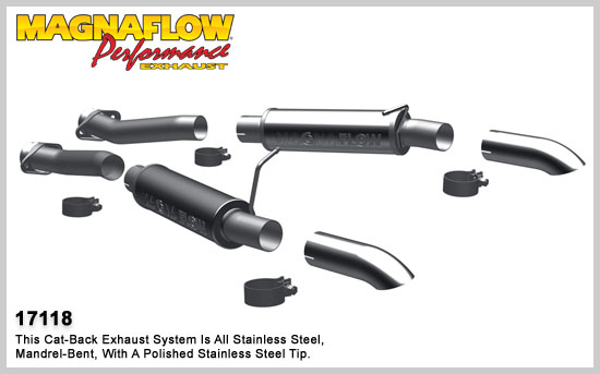 Magnaflow 87-93 FORD MUSTANG Stainless Cat-Back System