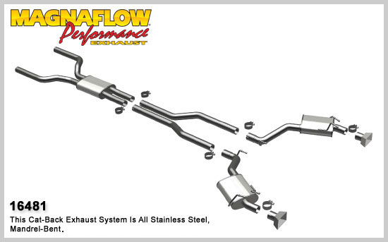 Magnaflow 2010 Camaro Stainless Cat-Back PERFORMANCE PACKAGE